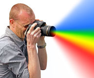 Colour spectrum camera Royalty Free Stock Photos