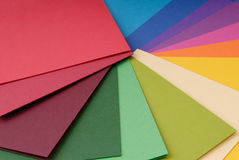 Colour spectrum of cardboard Stock Photography