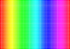 Colour spectrum grid Royalty Free Stock Photo
