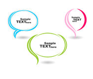 Colour speech bubbles text Stock Photography