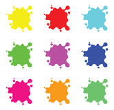 Colour splashes set. A set of colour splashes vector illustration