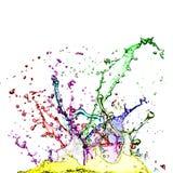 Colour splashes. On white  on white stock photo