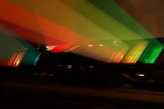 Colour spotlights illumination on scene Stock Photos