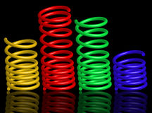 Colour springs Stock Photo