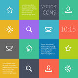 Colour square infographics with icons Stock Images