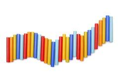 Colour sticks. On white background Royalty Free Stock Photo