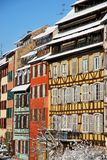 Colour of Strasbourg houses during winter Royalty Free Stock Image