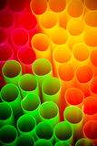 Colour straws for cocktail Stock Image
