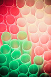 Colour Straws For Cocktail Royalty Free Stock Photos