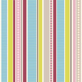 Colour stripes and dots | Seamless vector pattern Royalty Free Stock Image