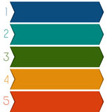 5 colour strips arrows Royalty Free Stock Photo
