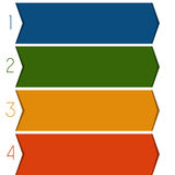 4 colour strips arrows Royalty Free Stock Photography