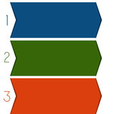 3 colour strips arrows Stock Images