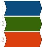 3 colour strips arrows Stock Images