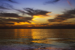 Colour sunset in Pacific ocean Royalty Free Stock Photo