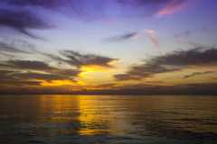 Colour sunset in Pacific ocean Stock Image