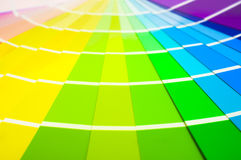 Colour Swatch Cards Stock Image