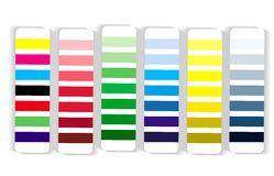 Colour swatch cmyk rgb Royalty Free Stock Images