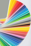 Colour swatches book stock photo