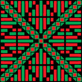 Colour a symmetrical pattern. With graphic elements Stock Images