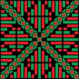 Colour a symmetrical pattern Stock Images
