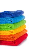 Colour terry towels combined by pile Royalty Free Stock Images