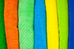 Colour terry towels combined by pile Stock Images