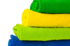 Colour terry towels combined by pile Royalty Free Stock Photography