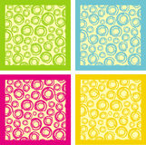 Colour texture. Geometric figures circle in colour square Royalty Free Stock Images