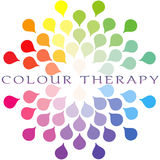 Colour therapy - Chromo therapy. Colour spectrum logo royalty free illustration
