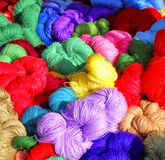 The colour threads. The colour threads for embroideries Royalty Free Stock Image