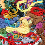 Colour threads background Royalty Free Stock Photography