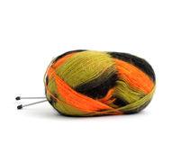 Colour threads for knitting. On white background Stock Image