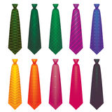 Colour tie in  on white background set 1 Stock Image