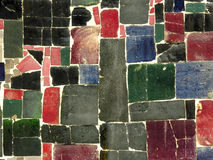Colour tiles mosaic - random pattern. Ceramic tile mosaic. Irregular shapes. Random spread Stock Photography