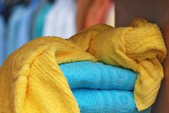 Colour towels Stock Image