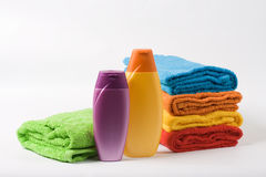 Colour towels Royalty Free Stock Photography