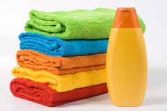 Colour towels Royalty Free Stock Images