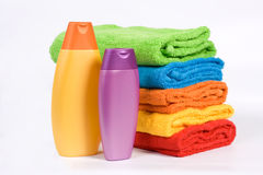 Colour towels Stock Photography