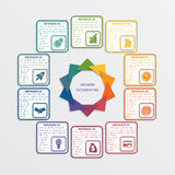 Colour triangles 10 options. Colour triangles modern infographic template for business concept with 10 steps royalty free illustration