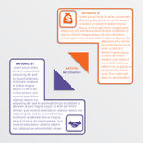 Colour triangles 2 options. Colour triangles modern infographic template for business concept with 2 steps Stock Photos