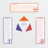 Colour triangles 3 options. Royalty Free Stock Photography
