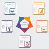 Colour triangles 5 options. Colour triangles modern infographic template for business concept with 5 steps stock illustration