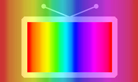 Colour TV, abstract. Colour retro TV, abstract image royalty free illustration