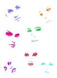 colour twarze Fotografia Stock