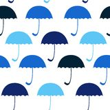 Colour umbrella on the black background. Vector Royalty Free Stock Photo