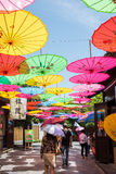 Colour the umbrella Stock Photos