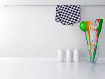 Colour utensils. Stock Photo