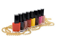 Colour varnish for nail Royalty Free Stock Images
