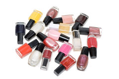 Colour varnish for nail Royalty Free Stock Image